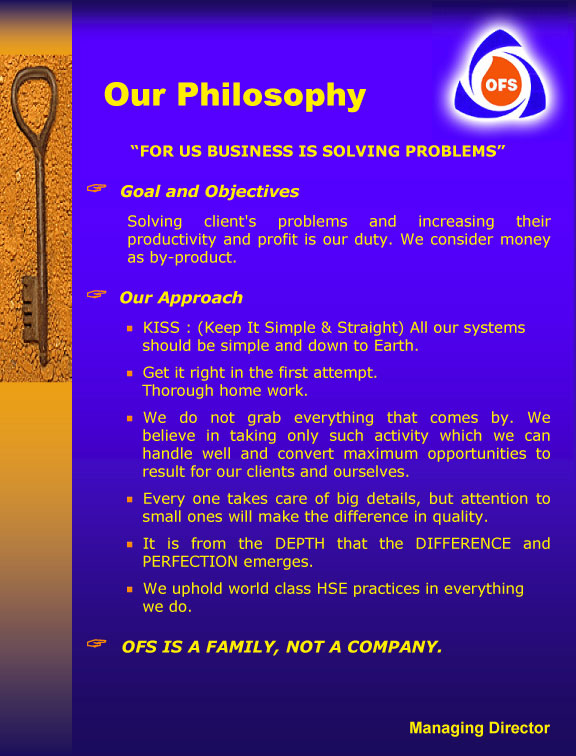 OFS Philosophy